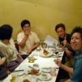 ホームページ委員会の食事会をしました